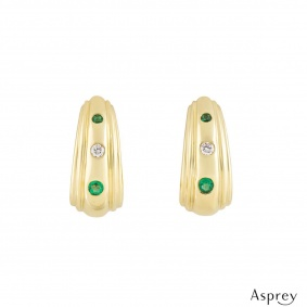Asprey Diamond and Emerald Earrings